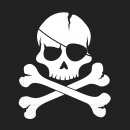 wholesale Party Items: Pirates - Black Skull - 20 paper napkins (2-lay