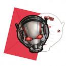 grossiste Cadeaux et papeterie: Ant-Man - cartes  d'invitation avec enveloppe