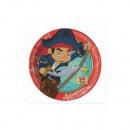 grossiste Cadeaux et papeterie: Capitaine Jake -  assiettes en papier 20cm