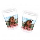 mayorista Casa y cocina: Precioso caballo -  tazas de plástico de 200 ml