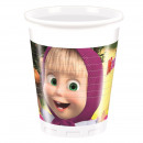 Masha & the  Bear - plastic cups 200ml