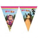grossiste Gadgets et souvenirs: Masha & the  Bear - Banner Flag (triangulaire)