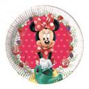 grossiste Cadeaux et papeterie: Minnie Jam Packed  Love - assiettes en papier 20cm