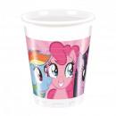 grossiste Maison et cuisine: tasses en  plastique 200ml - Rainbow poney