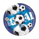 grossiste Cadeaux et papeterie: Football - Bleu -  assiettes en papier 20cm