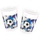 Fußball - Blau - Plastikbecher 200 ml