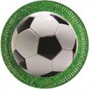 Partij van de voetbal - Paper Plates Large 23cm