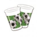 Partij van de voetbal - plastic bekers 200ml
