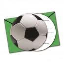 Partij van de voetbal - de uitnodiging kaarten met