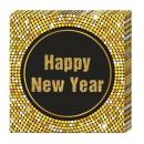 grossiste Maison et cuisine: Happy New Year  Retro - serviettes en papier (3 pli