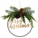 ORNAMENTAL WREATH MERRY CHRISTMAS