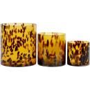 wholesale Flowerpots & Vases: WINDLIGHTS / VASES LEO Set: 3 (price per set)