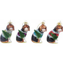 GLASSCHMUCK CHRISTMAS-DOGS 4 Sortiert (Preis pro