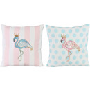 wholesale Cushions & Blankets: CUSHION COVERS FLAMINGO 45X45 2 assorted (price