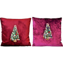 wholesale Cushions & Blankets: CUSHION COVERS X-MAS TREE 45X45 2 assorted (Pric