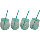wholesale Drinking Glasses: GLASSES FRESH 4 assorted (price per piece)