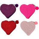Großhandel sonstige Taschen:PERLENTÄSCHCHEN HAPP Y HEARTS 4 Sortiert (Preis pr