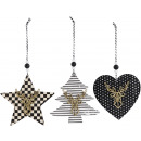 wholesale Decoration: DECORATION HANGER MODERN XMAS 3 assorted (Price