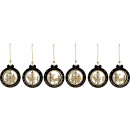 wholesale Decoration: GOLDEN FOREST DECORATION PENDANT 6 assorted (Pri