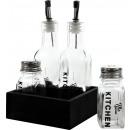 wholesale Drinking Glasses: MENAGE THE KITCHEN Set: 5 (price per set)
