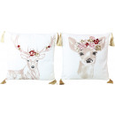 wholesale Cushions & Blankets: CUSHIONS DEERS 45X45 2 assorted (price per pc