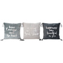 wholesale Cushions & Blankets: CUSHION COVERS COURAGE 45X45 3 assorted (price p