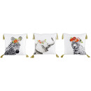 wholesale Cushions & Blankets: CUSHIONS SAFARI 45X45 3 assorted (price per asso