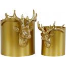wholesale Flowerpots & Vases: POTS HIRSCH set: 2 (price per set)