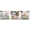 wholesale Cushions & Blankets: CUSHIONS JUNGLE FUN 45X45 3 assorted (priced pr