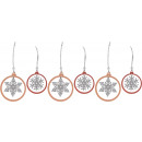 wholesale Decoration: HANGER ICE CRYSTAL Set: 6 (price per set)