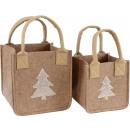 wholesale Handbags: FELT BAGS TREE Set: 2 (price per set)