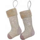 wholesale Decoration: XMAS FELT BOOTS 2 assorted (Price per piece)