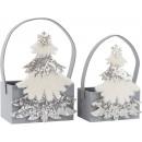 wholesale Handbags: FELT BAGS WINTER TREE Set: 2 (price per set)