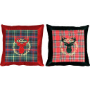 wholesale Cushions & Blankets: CUSHIONS MERRY CHRISTMAS 2 assorted (priced pr