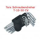 Großhandel Garten & Baumarkt: TORX HEX Winkel  Schraubendrehe?r Satz 9 tlg T10-T5