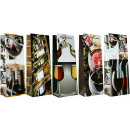 Großhandel Nahrungs- und Genussmittel: Geschenktüte  Flaschentüte Jumbo Motiv Wein 36x13x9