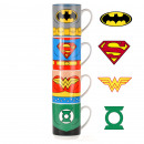 Stacking cups Justice League