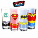wholesale Drinking Glasses: Glasses Justice League - set of 4
