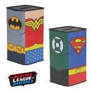 grossiste Epargner boite: Tirelire  Métallique Justice League