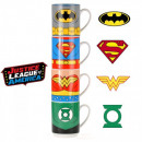 groothandel Koppen & bekers: Stapelen cups Justice League