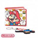 Set Nintendo Mario Portefeuille et Porte-Clés