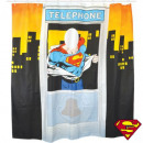 Shower Curtain Superman Telephone Booth