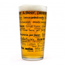 wholesale Drinking Glasses:Beer glass Multilanguage