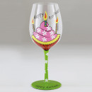 wholesale Drinking Glasses: Glass Foot Fancy Happy Birthday
