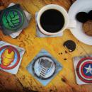 Set of 8 Coasters Animated Marvel