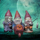 Mini Garden gnomes Zombies - Set of 3