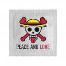 Condom Peace & Love Skull