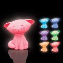 grossiste Materiel d'enfants et de puericulture: Veilleuse Chaton Multicolore