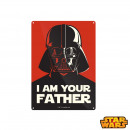 Small Plate Metallic Star Wars I am Your Fathe