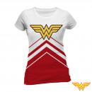 Großhandel Kinder- und Babybekleidung: T-Shirt Wonder Woman Frauen Weiß Größen: T-Shirt W